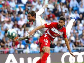 Prováveis escalações de Granada e Real Madrid. EFE/Juan Carlos Hidalgo