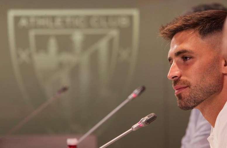 Yeray soñó con entrar en Europa con el Athletic. EFE/Archivo