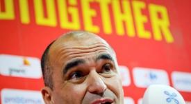 Roberto Martínez alabó el liderazgo de Hazard. EFE/Archivo