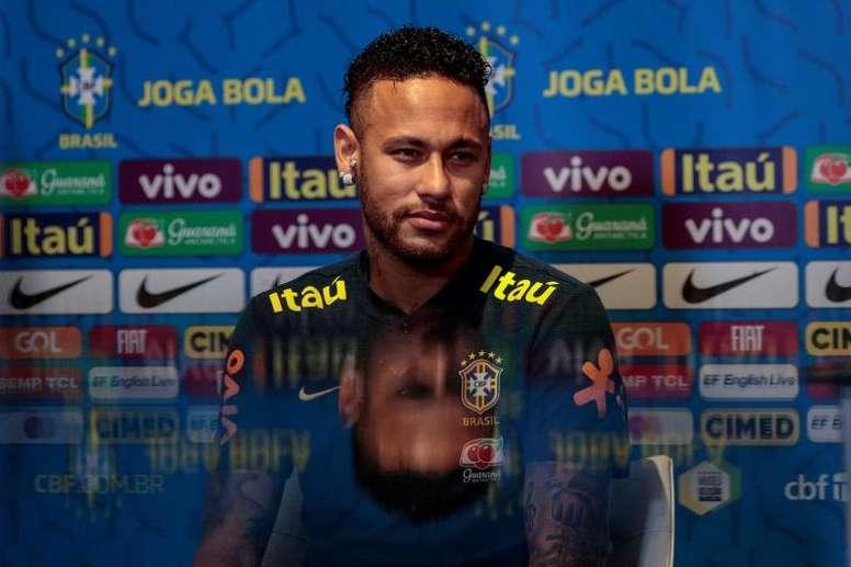 Neymar a parlé en conférence de presse. EFE