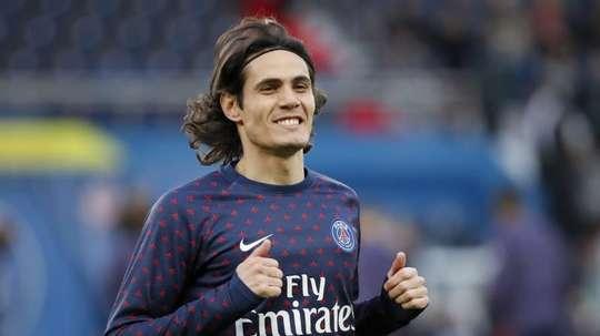 Cavani quer renovar com o PSG. EFE/Christophe Petit Tesson