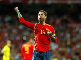Sergi Ramos will become the player with the most games for Spain. EFE