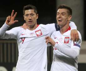 Lewandowski, arrebatador ante Letonia. EFE
