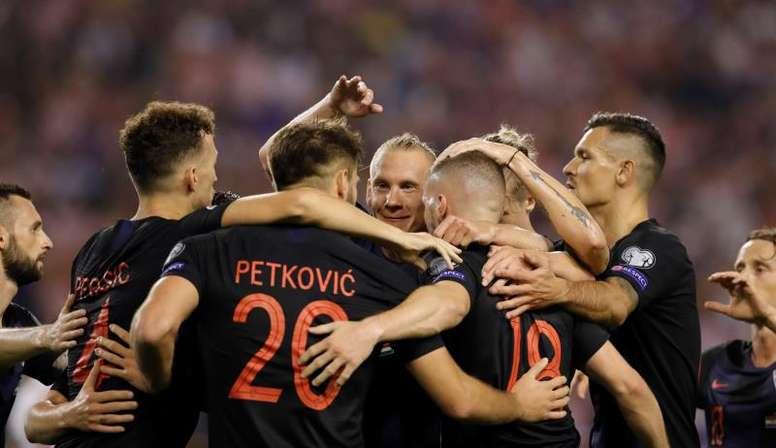 Croacia venció con comodidad a Hungría. EFE/EPA/ANTONIO BAT