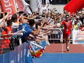 El pentacampeón del mundo de triatlón en distancia olímpica Javi Gómez Noya. EFE/Salvador Sas/Archivo