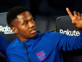 Ansu Fati is shining with Barcelona. EFE