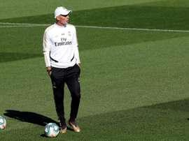 Theo entrena con el primer equipo. EFE