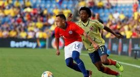 12 detenidos tras el partido entre Chile y Colombia. EFE/Manuel Lorenzo