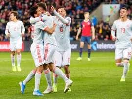 Les compos probables du match de qualification à l'Euro entre l'Espagne et la Suède. EFE