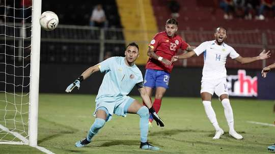 Costa Rica sigue sin saber lo que es ganar. EFE/Jeffrey Arguedas