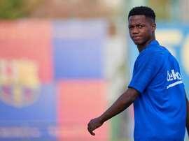 Ansu Fati de retour à l'entraînement. EFE