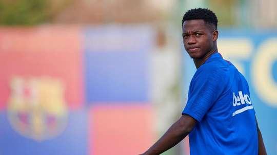 Ansu Fati dans les 20 finalistes du Golden Boy sans avoir été dans les 50. EFE
