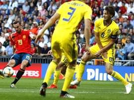 España derrotó a Suecia en casa en un gran partido. EFE