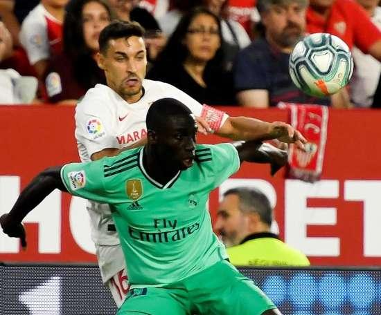 Zidane hésite entre Marcelo et Mendy. EFE