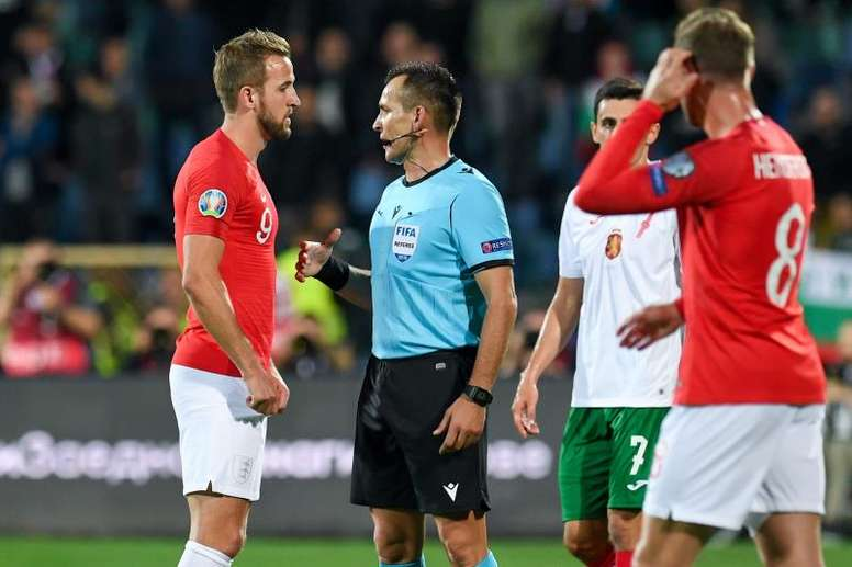 England's Euro 2020 qualifier in Bulgaria was twice halted by racist chanting. AFP