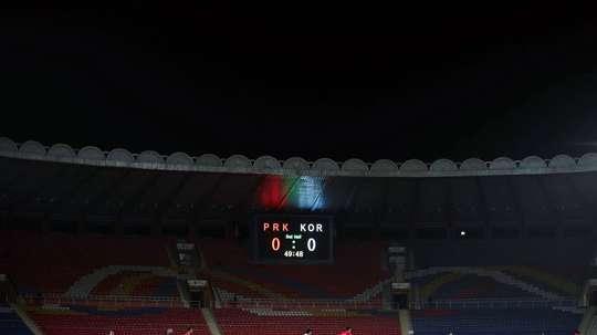 Poca afición en un partido entre las dos Coreas. EFE
