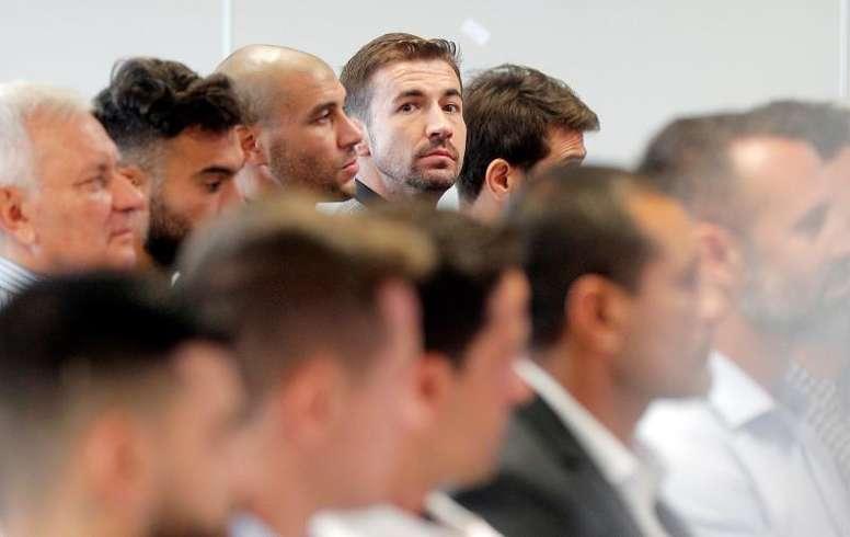 Gabi, satisfecho por la sentencia del Levante-Zaragoza. EFE
