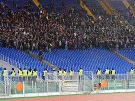 UEFA castiga racismo da torcida da Lazio. EFE/ETTORE FERRARI/Archivo