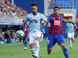 El centrocampista gallego superó su aringoamigdalitis aguda. EFE