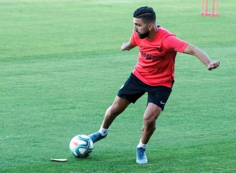 Dabbur brilla con Israel y espera minutos en el Sevilla. EFE/Raúl Caro