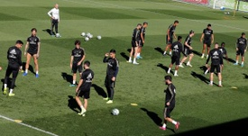 Il Real Madrid durante un'allenamento. EFE