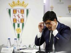 El presidente del Córdoba, sancionado con cuatro partidos. EFE