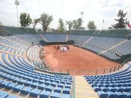 Vista general del Court Central Anita Lizana este miércoles, en Santiago (Chile). EFE/Alberto Peña