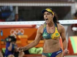 La voleibolista brasileña Ágatha. EFE/MARIO RUIZ/Archivo