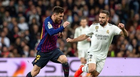 Carvajal quer que o Barcelona seja eliminado logo da Champions. EFE/ Rodrigo Jiménez/Archivo