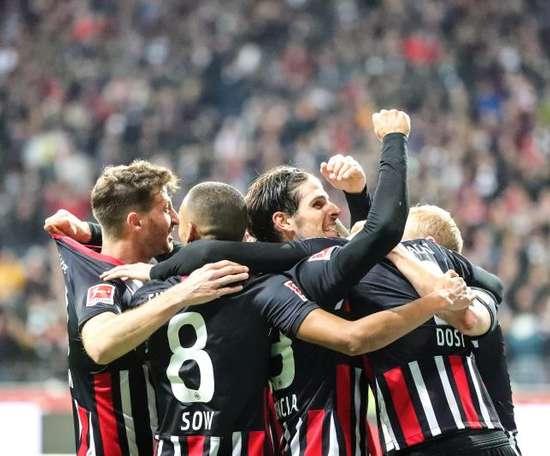 El Eintracht goleó al Bayer. EFE