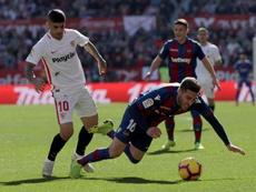 El Sevilla arrasó al Levante la pasada campaña. EFE