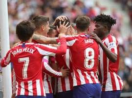 Pour l'Atlético, c'est mieux en Ligue des Champions. EFE