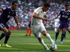 Valladolid - Real Madrid: onzes iniciais confirmados. EFE