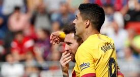 Le message d'adieux de Messi à Luis Suarez.efe