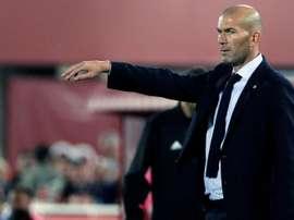 Zidane a analysé le revers du Real. EFE