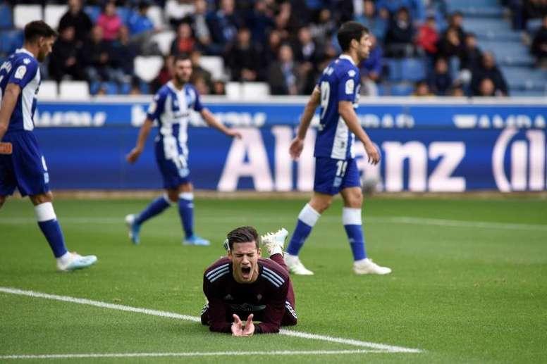 Magallán y Lucas Pérez aguan las esperanzas del Celta. EFE