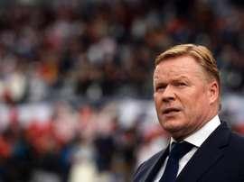 Treinador holandês Ronald Koeman recusou oferta para treinar o Barcelona. EFE/HUGO DELGADO