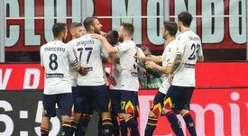 Calderoni anula a Çalhanoglu y agua el debut de Pioli. EFE