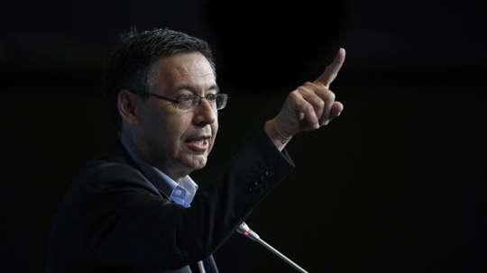 Barcelona's president confirmed the club's interest in Rodrigo. EFE