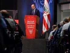 Elizegi habló en la primera asamblea que ha presidido. EFE