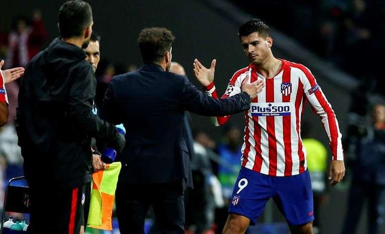 Morata anotou seis dos 18 gols que o Atlético marcou até agora. EFE/ Rodrigo Jiménez