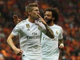 O Real vence e respira na Champions League. EFE