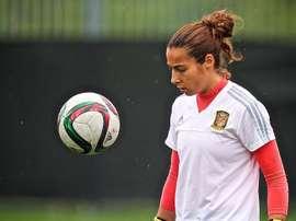 Ainhoa Tirapu habló sobre la huelga en el fútbol femenino. EFE