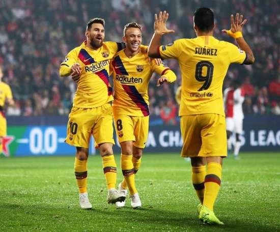 Messi hizo el 0-1 pronto, pero el Barcelona sufrió. EFE