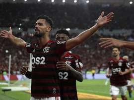 Flamengo fait marche arrière et Pablo Marí file à Arsenal.  EFE/Marcelo Sayao