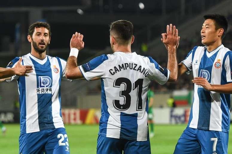 El Espanyol asaltó el liderato con sus tres puntos en Bulgaria. EFE