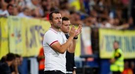 Diego Martínez no se fía del Badalona. EFE/Domenech Castelló