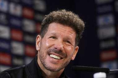 Diego Martinez praised Simeone and Atletico. EFE/Juan Carlos Hidalgo