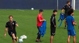 Osasuna prepara el partido ante el Mallorca. EFE
