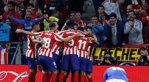 O Atlético fez uma grande partida contra os 'leões'. EFE/Juan Carlos Hidalgo